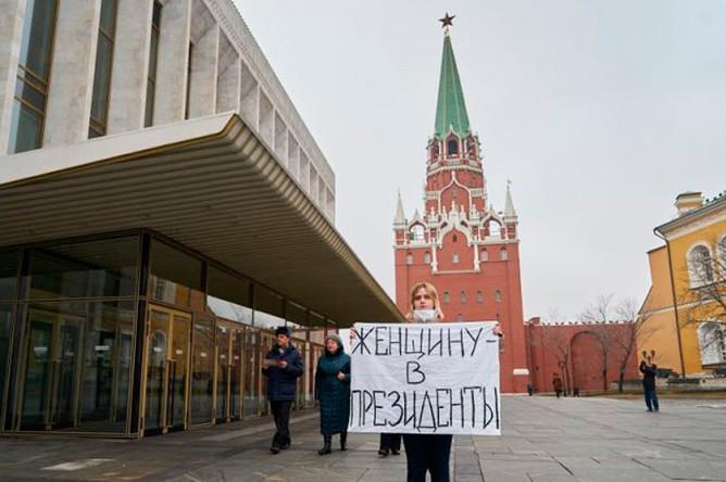 Акция феминисток в Кремле