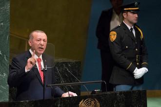 Президент Турции Реджеп Тайип Эрдоган, 25 сентября 2018 года