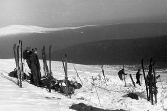 Поисковая операция. Вид от места, где стояла палатка группы Дятлова.