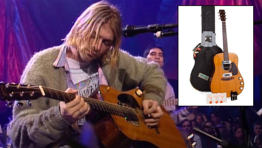 Курт Кобейн и группа Niravana во время выступления с акустическим концертом на MTV в Нью-Йорке, 1993 год