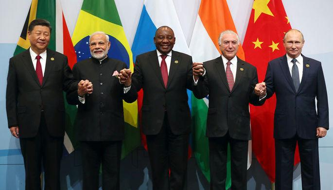 Председатель КНР Си Цзиньпин, премьер-министр Индии Нарендра Моди, президент ЮАР Сирил Рамафоза...