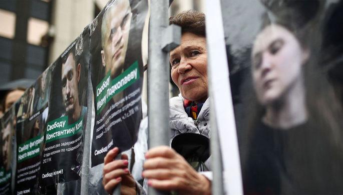 Митинг в поддержку фигурантов «московского дела», дела ФБК и всех политзаключенных на проспекте Сахарова, 29 сентября 2019 года