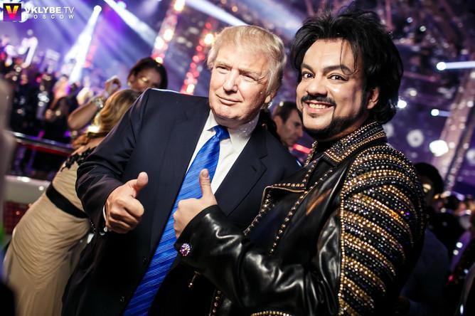 Дональд Трамп и певец Филипп Киркоров