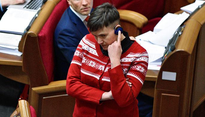 Депутат Надежда Савченко на заседании Верховной рады Украины в Киеве, 6 декабря 2016 года