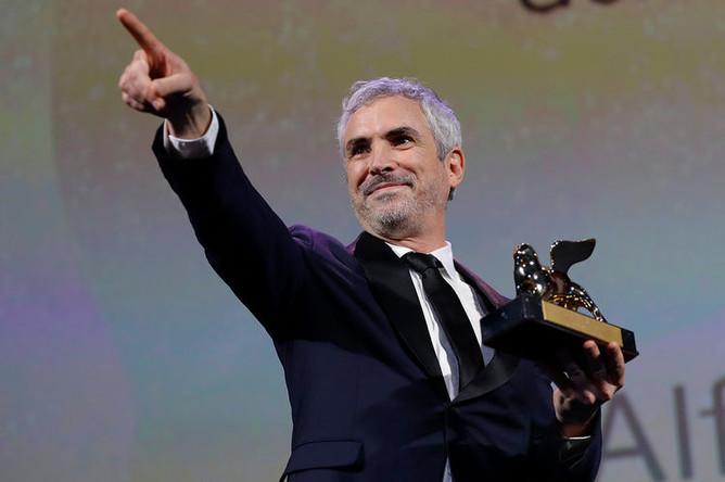Режиссер Альфонсо Куарон на закрытии 75-го Венецианского кинфестиваля, 8 сентября 2018 года