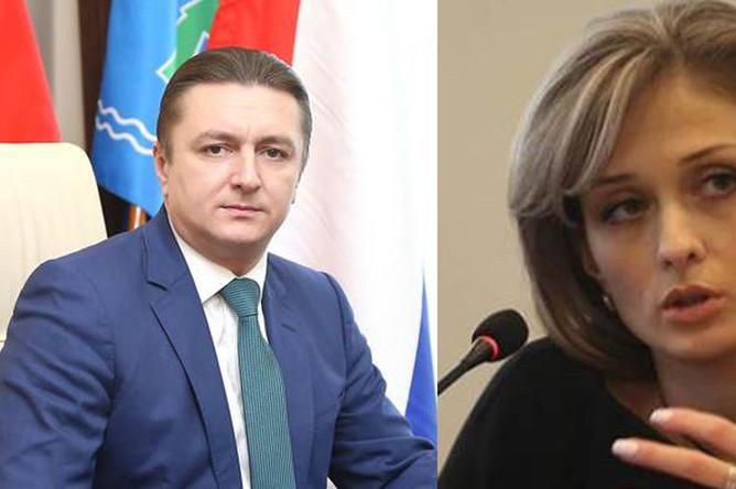Глава Раменского района области Андрей Кулаков и Евгения Исаенкова