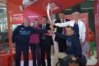 В Краснодаре представили олимпийский факел «Сочи 2014»