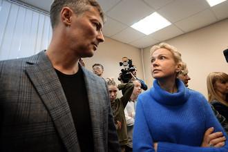 Аксана Панова и Евгений Ройзман во время оглашения приговора в Ленинском суде Екатеринбурга