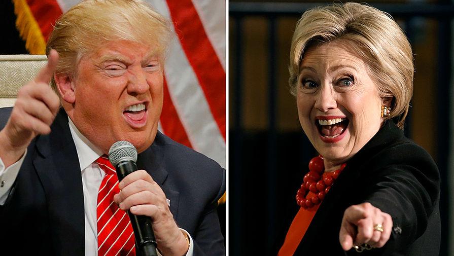 Картинки по запросу трамп и хиллари
