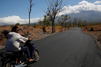 Вулкан Агунг на острове Бали в Индонезии, сентябрь 2017 года