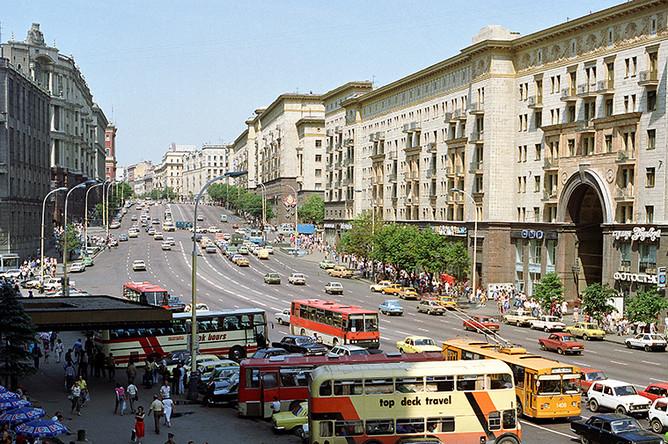 Вид на Тверскую улицу, 1989 год