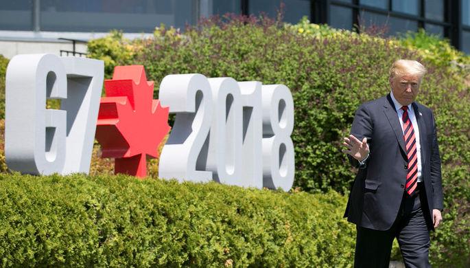Президент США Дональд Трамп на саммите G7, 8 июня 2018 года