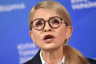 Кандидат в президенты Украины, лидер всеукраинского объединения «Батькивщина» Юлия Тимошенко