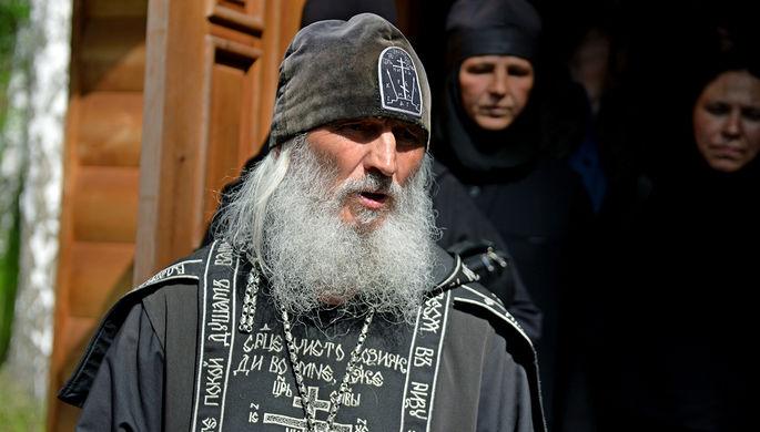 Схиигумен Сергий (Романов) в Среднеуральском женском монастыре в Свердловской области, 17 июня 2020 года