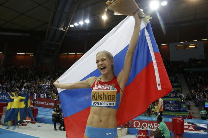 Чемпионка Европы Дарья Клишина торжествует
