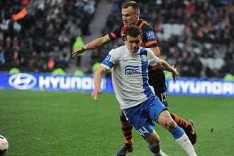 Артем Федецкий забил победный гол за «Днепр» в игре с «Шахтером»
