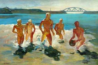 Александр Дейнека, «Мальчики, выбегающие из воды»