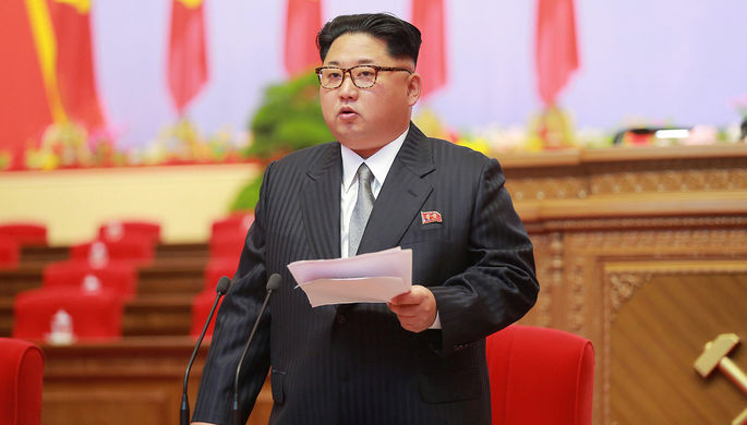 Ким Чен Ын на съезде Трудовой партии