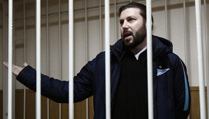 Священник Глеб Грозовский, обвиняемый в педофилии, во время оглашения приговора в Приозерском...