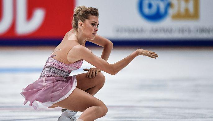 Елена Радионова (Россия) в произвольной программе одиночного катания