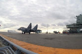 Истребители на палубе «Адмирала Кузнецова»