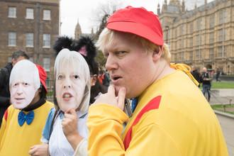 Двойник Бориса Джонсона на акции протеста против выхода Великобритании из ЕС