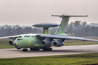 Новейший российский самолет радиолокационного дозора и наведения А-100