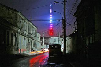 Телевышка в Симферополе, декабрь 2014 года