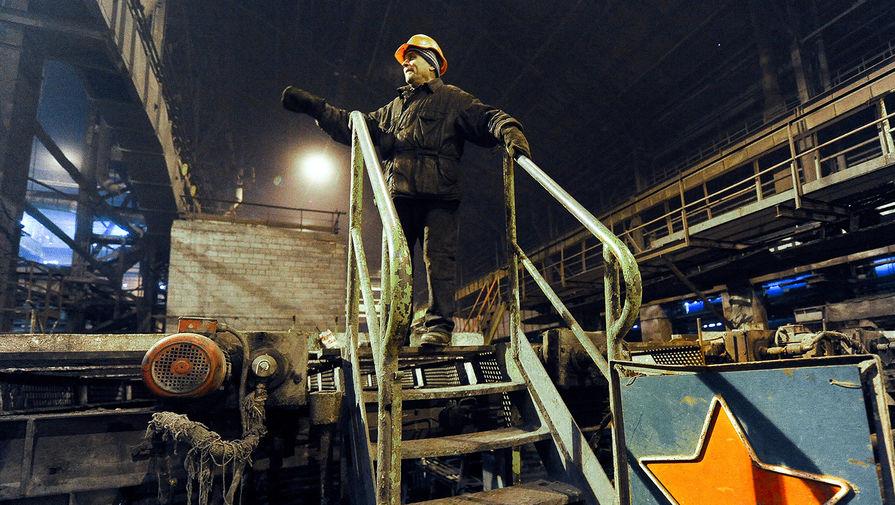 На Донецком металлургическом заводе, Украина, 27 февраля 2017 года