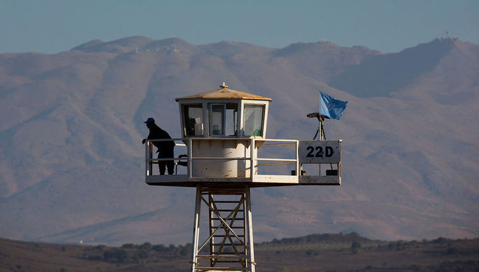 Миротворцы ООН на Голанских высотах близ границы Израиля и Сирии, 2013 год