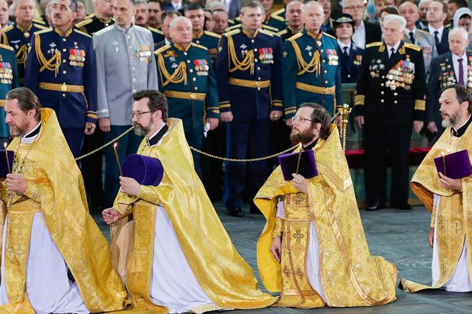 Церемония освящения собора Воскресения Христова- главного храма Вооруженных сил РФ, 14 июня 2020 года