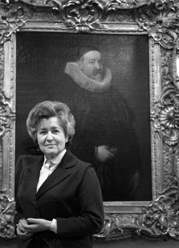 Директор Государственного музея изобразительных искусств имени А. С. Пушкина Ирина Антонова, 1983 год