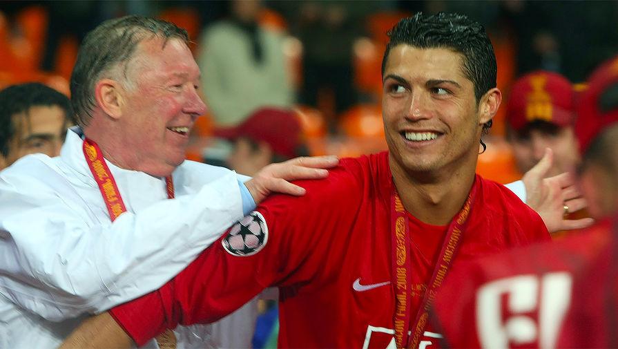 Сэр Алекс Фергюсон — главный наставник в карьере Роналду. Сам португалец называет специалиста вторым отцом.