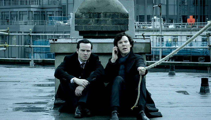 "Кадр из сериала ""Шерлок"" (2010)"