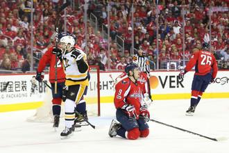 Хоккеисты «Вашингтона» и «Питтсбурга» на седьмом матче серии 1/4 финала плей-офф НХЛ.
