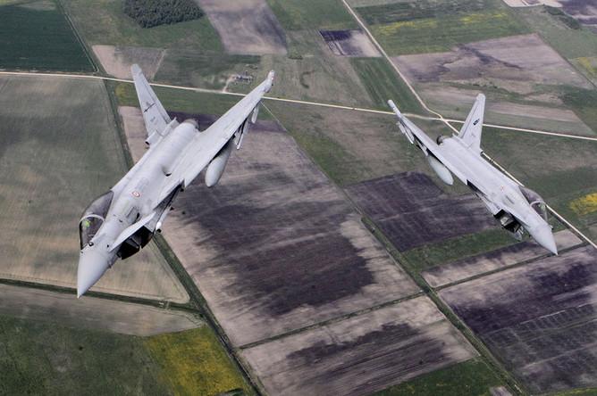 Истребители Eurofighter Typhoon ВВС Италии, 2015 год