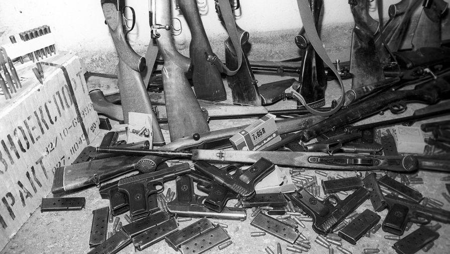 Оружие, изъятое у населения Вильнюса, 13 января 1991 года