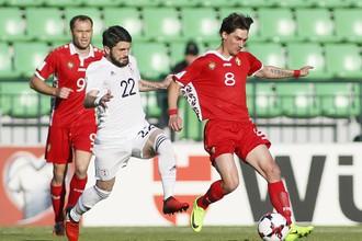 Сборная Грузии играет на выезде с командой Молдавии в отборочном матче к чемпионату мира — 2018 в России