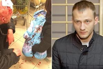 Избитый мужчина с ребенком и подозреваемый в совершении преступления (коллаж)