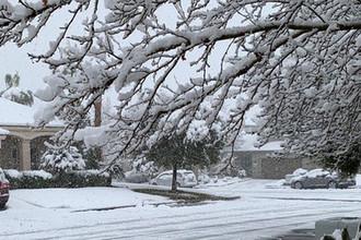 Снег в окрестностях Лас-Вегаса, 22 февраля 2019 года