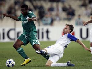Йеспер Гронкьер в победном для «Копенгагена» матче с «Панатинаикосом»