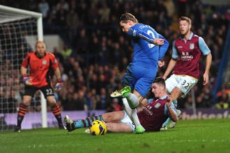 В матче с «Астон Виллой» Фернандо Торрес забил свой седьмой гол в чемпионате Англии-2012/13