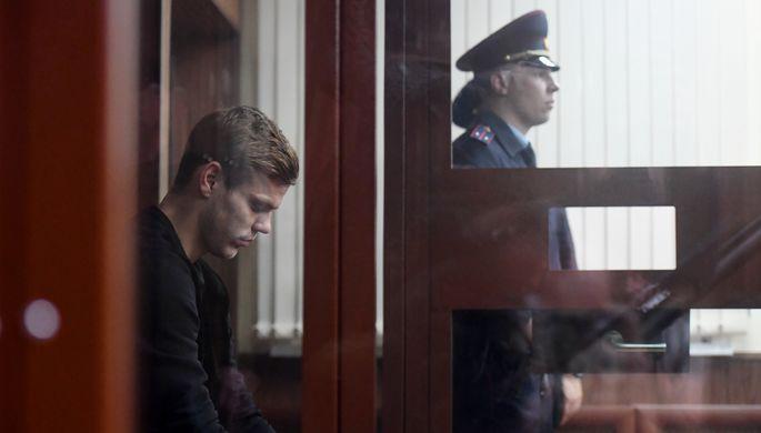 Александр Кокорин на заседании Тверского районного суда Москвы