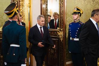 Министр обороны Российской Федерации Сергей Шойгу в Кремле, 5 октября 2017 года