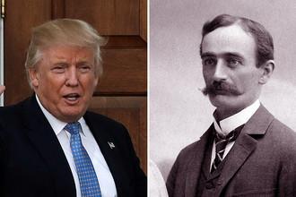 Дональд Трамп и его дедушка Фридрих Трумпф, коллаж