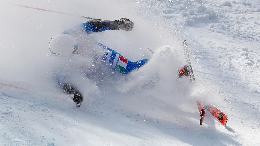 Во время соревнований по горным лыжам среди мужчин на XXIII зимних Олимпийских играх в Пхенчхане, 18 февраля 2018 года