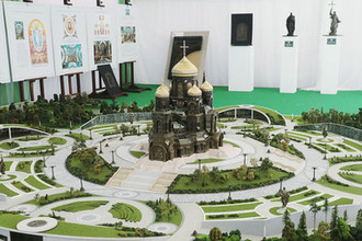 Макет главного храма Вооруженных Сил России в парке «Патриот»