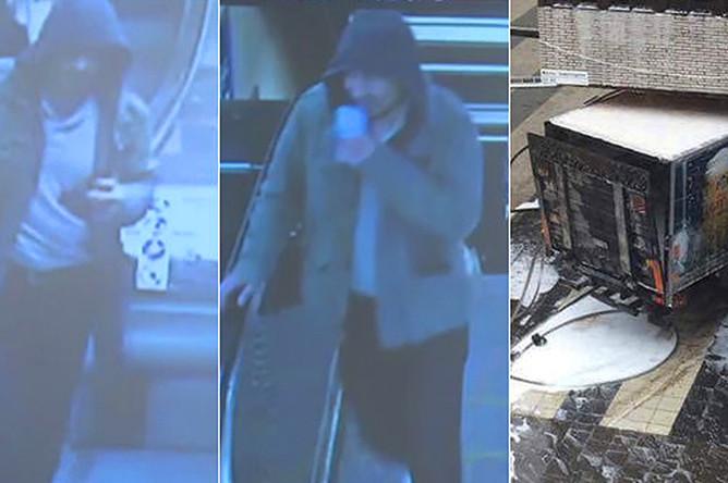 Фотография мужчины, которого полиция Швеции разыскивает в связи с терактом, коллаж