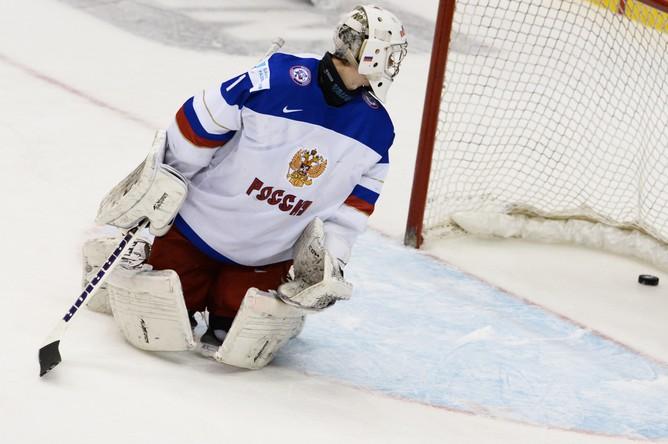 Голкипер российской сборной Илья Сорокин