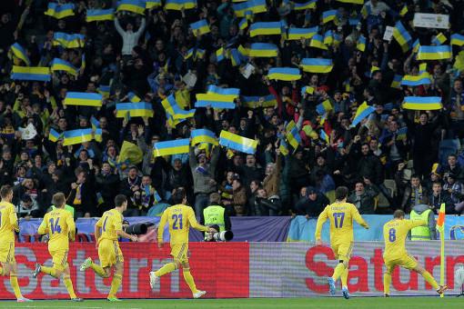 Болельщики сборной Украины по футболу будут следить за своими кумирами по телевизору